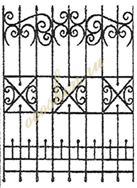кованые решетки эскизы 19