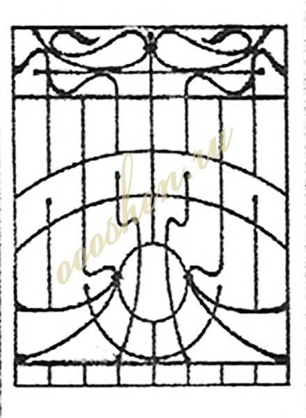 кованые решетки эскизы 21