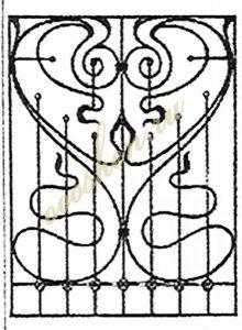 кованые решетки эскизы 22