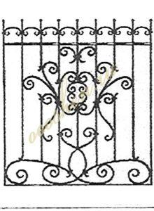 кованые решетки эскизы 25