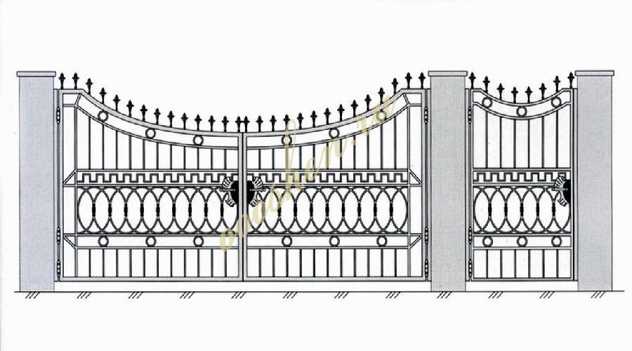 Кованые ворота эскиз 007
