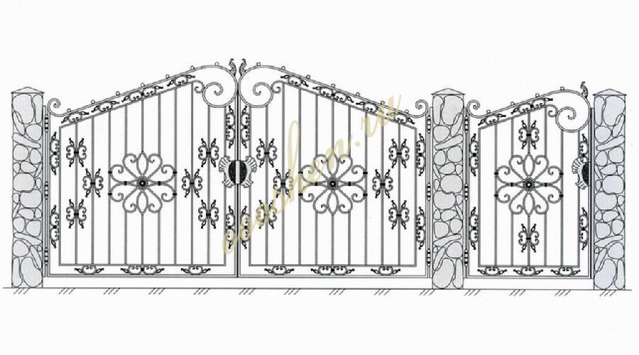 Кованые ворота эскиз 009