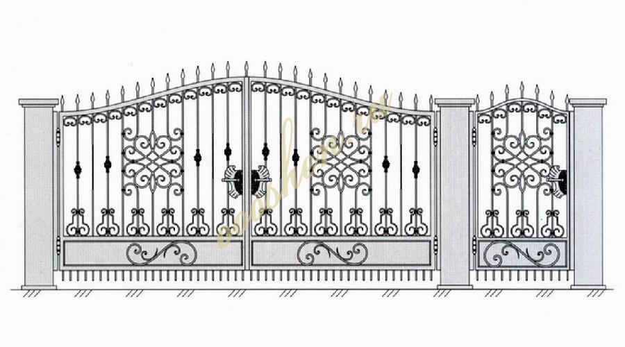 Кованые ворота эскиз 010