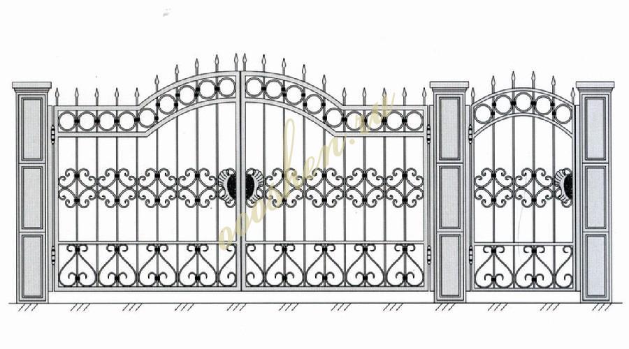 Кованые ворота эскиз 012