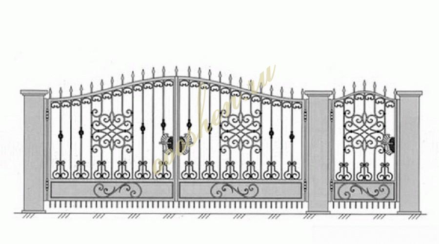 Кованые ворота эскиз 027