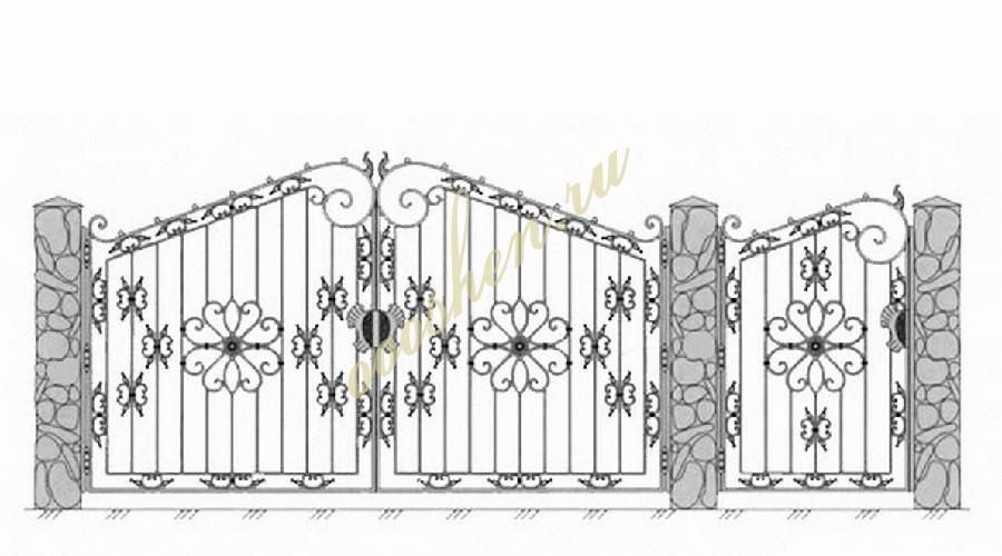 Кованые ворота эскиз 028