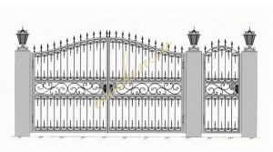 Кованые ворота эскиз 029