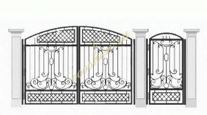 Кованые ворота эскиз 030