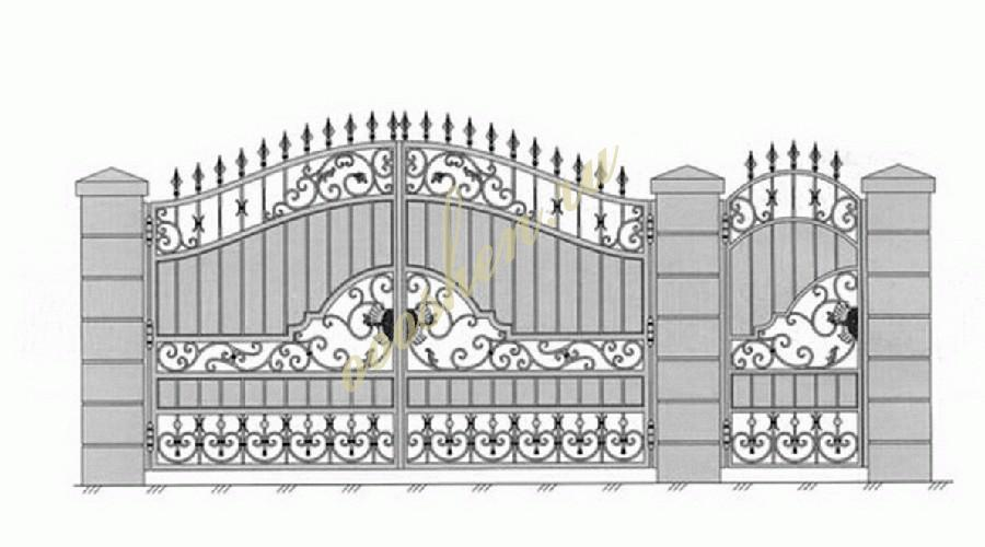 Кованые ворота эскиз 032