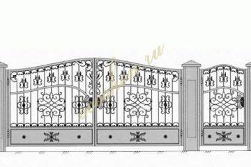 Кованые ворота эскизы 037