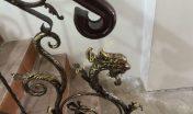 Кованые перила с головой дракона