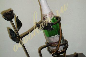 кованые подставки под бутылки 004