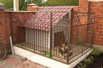 Кованые вольеры для собак - 00003
